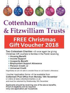 Cottenham Charities Christmas Voucher